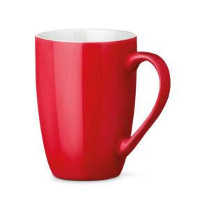 Tazas de cerámica de color rojo