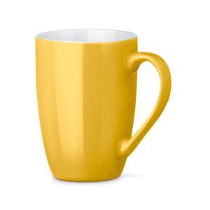 Tazas de cerámica de color amarillo