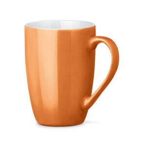 Tazas de cerámica de color naranja
