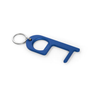 Llavero de Gancho higiénico metálico azul